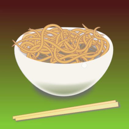 Bowl of noodles by lemasney