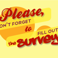 Please don't forget to fill out the survey cc-by lemasney