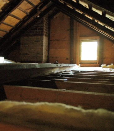 Jedediah Higgins House, Kingston, NJ, Interior, attic detail, cc-by lemasney