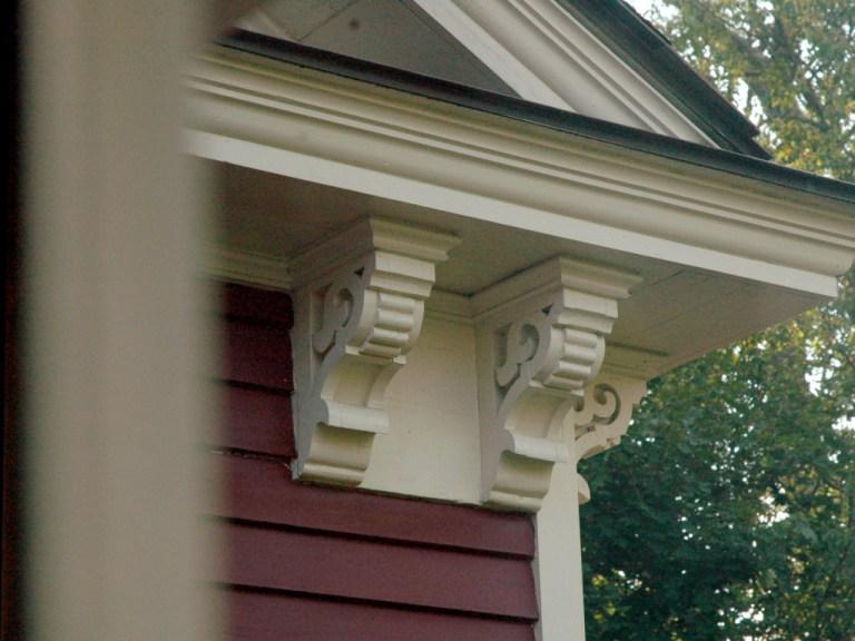 Jedediah Higgins House, Princeton, NJ, Exterior decorative support, cc-by lemasney