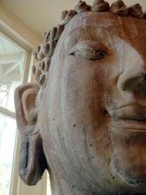 Jedediah Higgins House, Princeton, NJ, Interior, Buddha and lotus wall piece, cc-by lemasney