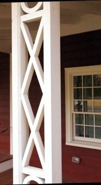 Jedediah Higgins House, Princeton, NJ, Exterior pillar detail, cc-by lemasney