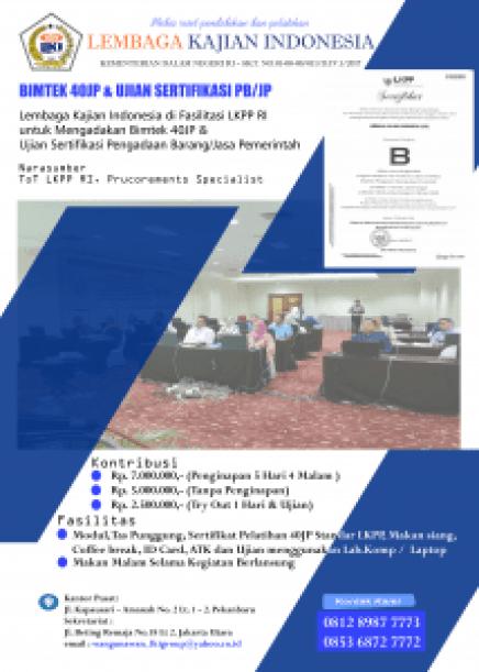 bimtek dan ujian sertifikasi