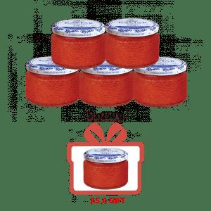 5+1 Salmon Trout Caviar, 6 x 250 g