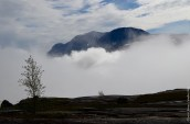 Cloud gliding in from the valley