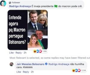 Brésil-France: Jair Bolsonaro et son équipe insultent Brigitte Macron et s'attaquent à son mari 1