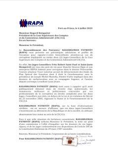 CSC/CA-Corruption : Surprenantes dénonciations de RAPA contre les juges Fritz Robert Saint Paul et Saint-Juste Monprevil 1