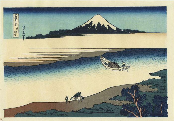 Hokusai 36 vues Riviere Tamagawa le melting potes