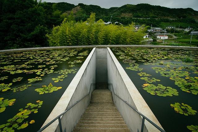 Temple de l'eau Tadao Ando le melting potes