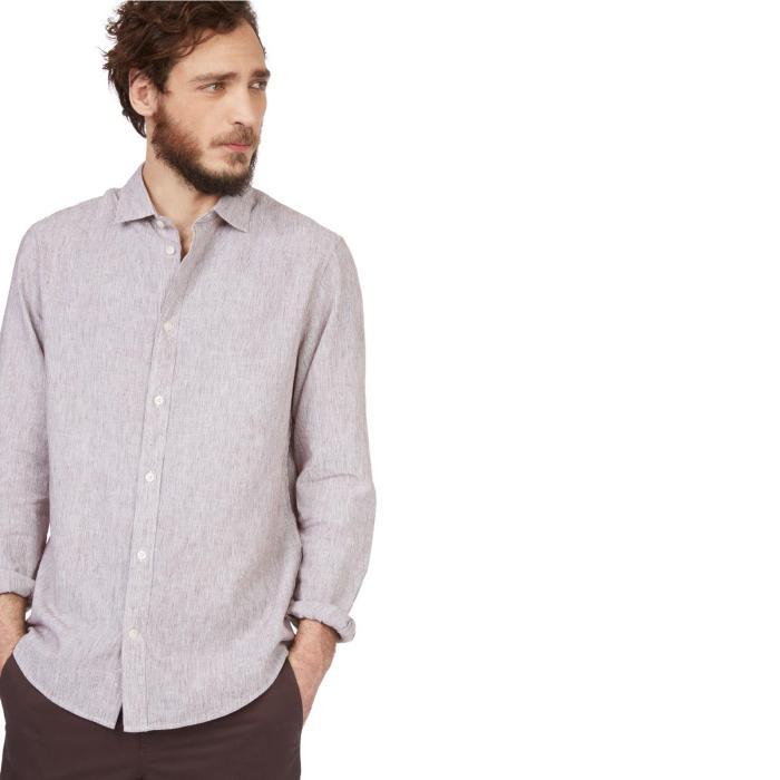 chemise rayée monoprix homme