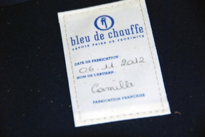 bleu de chauffe étiquette