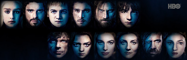Personnages Game of Thrones Affiche