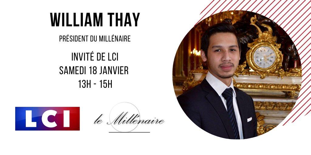 William Thay, Président du Millénaire, invité de LCI le 18 janvier 2020