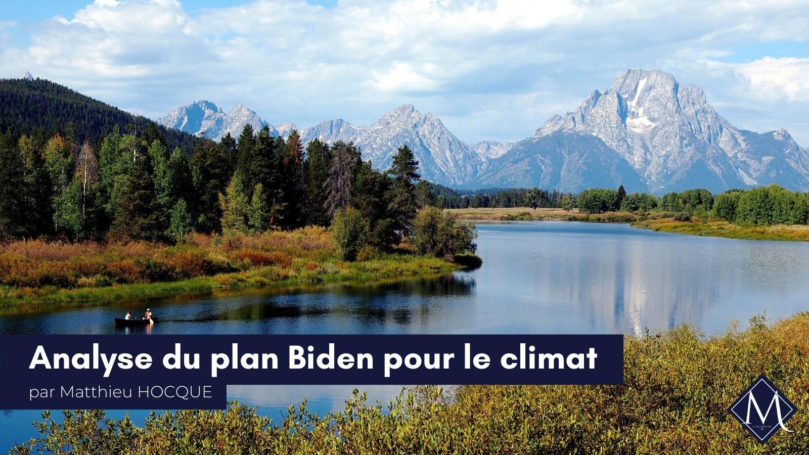 Analyse du plan Biden pour le climat