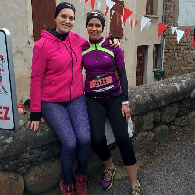Maelle et Julie au départ du 10km féminin