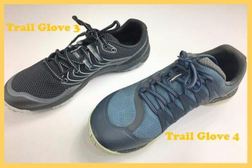 Merrell Trail Glove 3 et Trail Glove 4