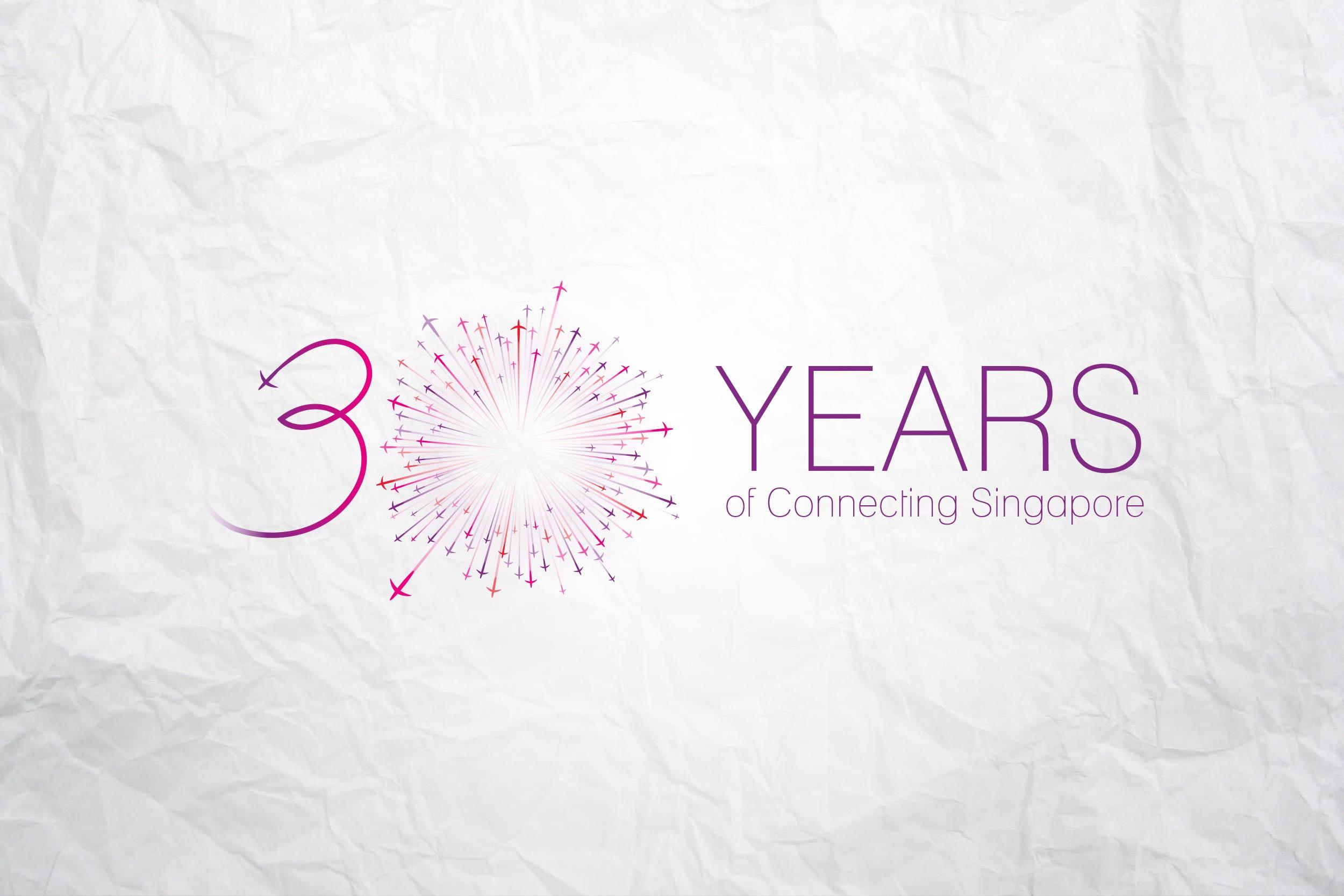 Changi Airport Group 30th Anniversary Logo Le Petite Minou