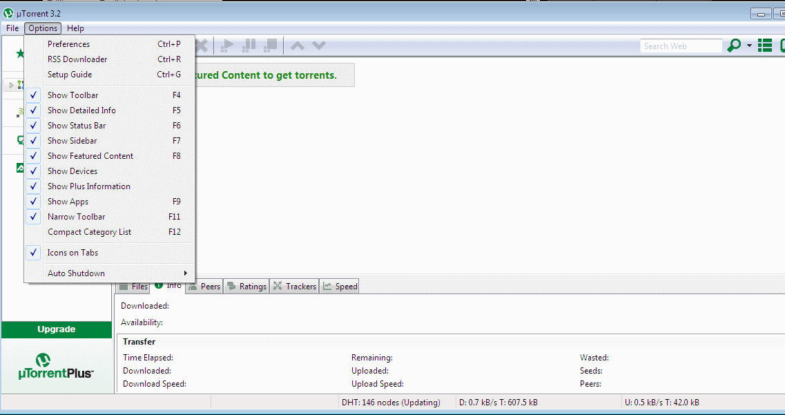 utorrent not downloading or uploading