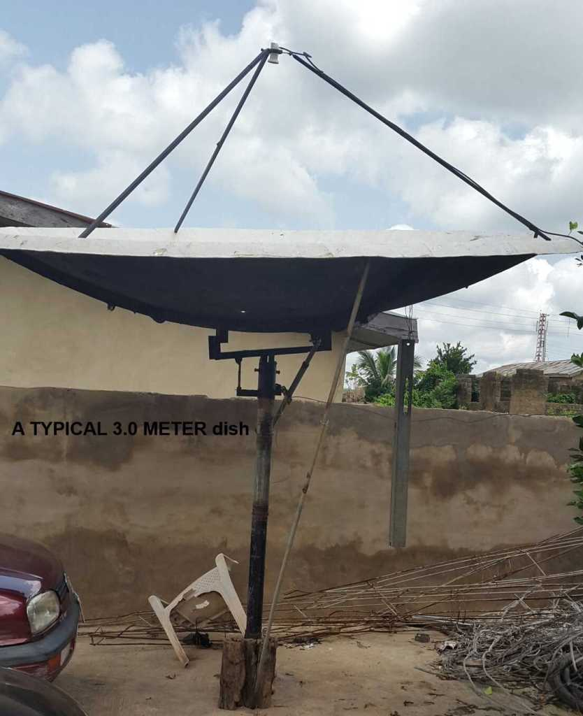 pictures of popular satellite dishes_3 meters dish