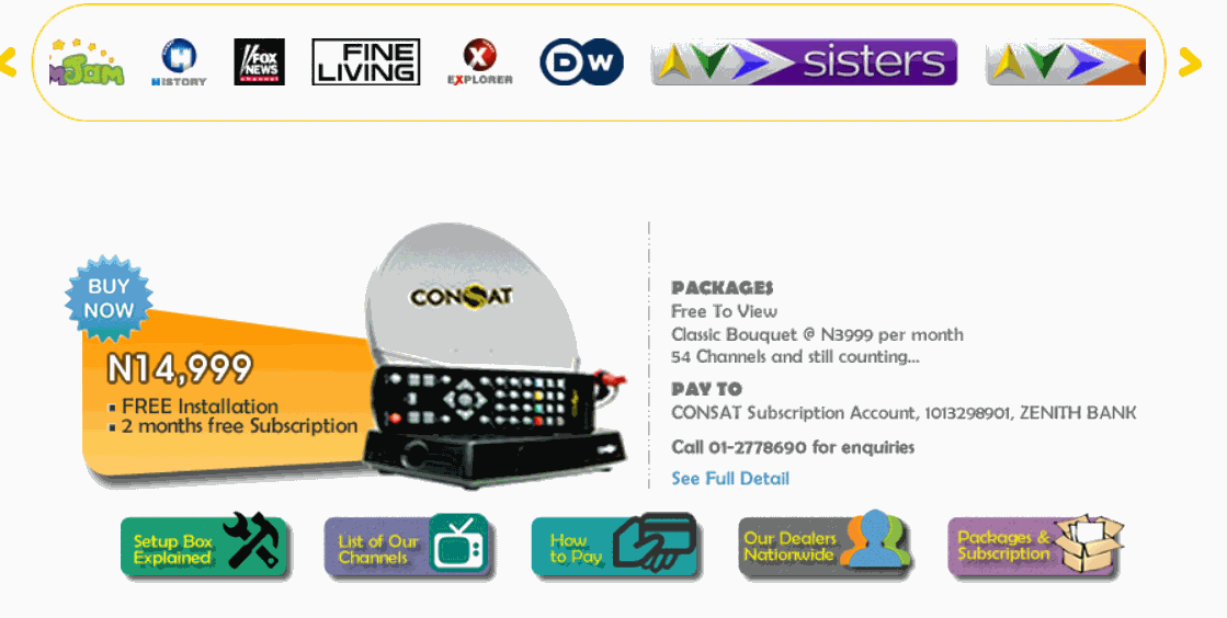 CONSAT(Continental Satellite) GIVING DSTV MULTICHOICE COMPETITION