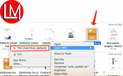 How to extract rar and zip files on Mac