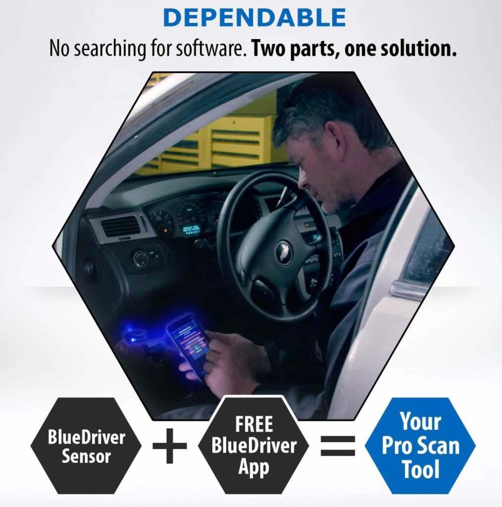 BlueDriver bluetooth OBDII scanner