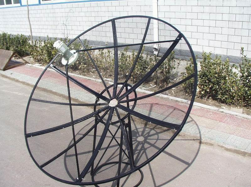 A typical satellite mesh dish