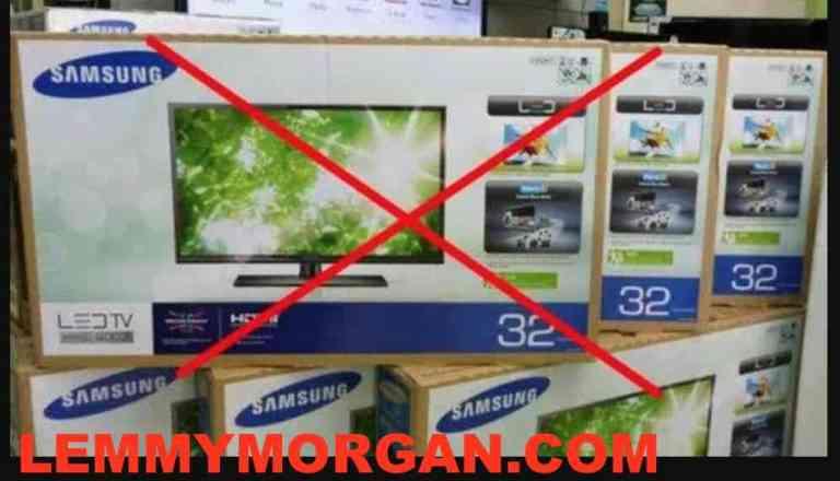 Fake samsung LED TV