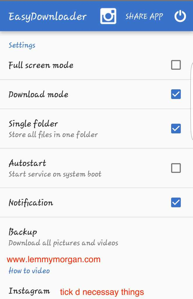 user interface of easydownloder