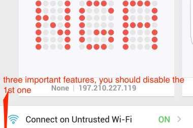 vyprVPN Userinterface