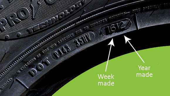 checking tyre production date and lifespan