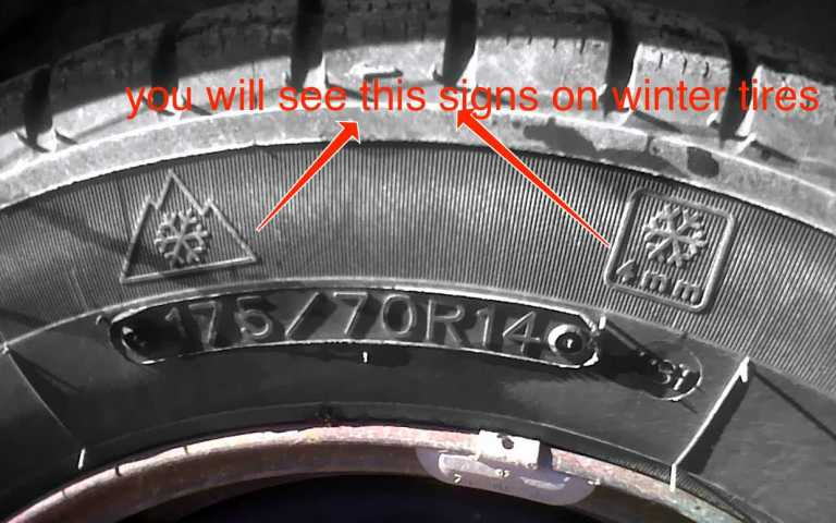 Identifying a Winter tire