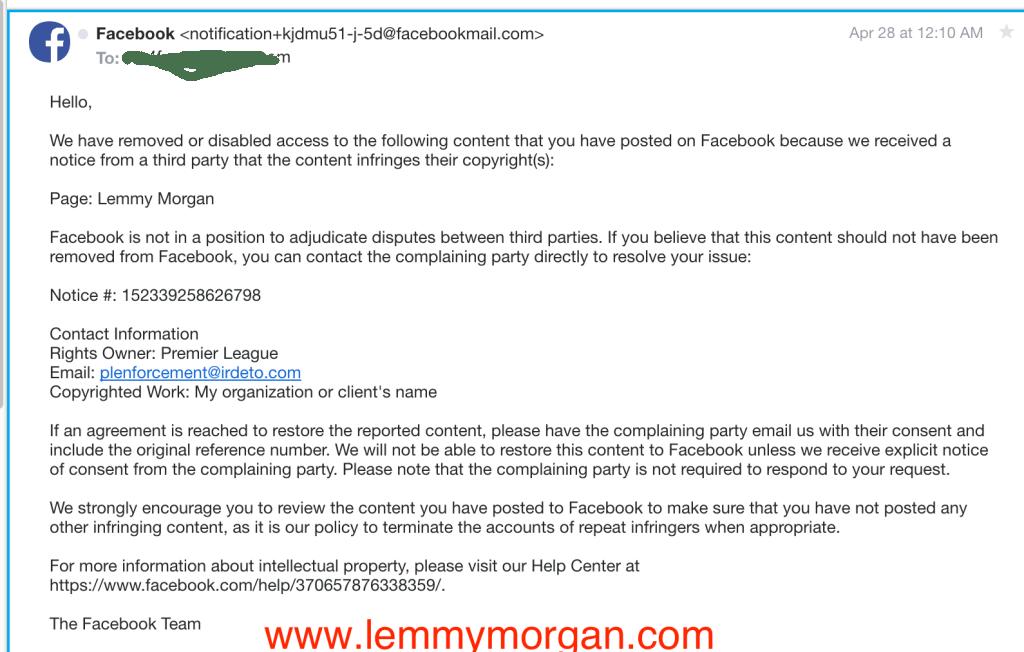 Lemmy Morgan May 2017