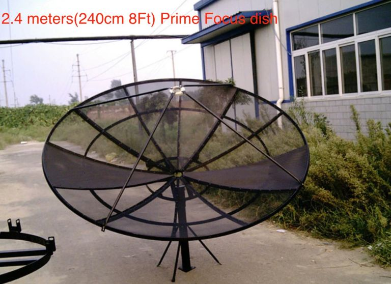 2.4 meters Prime Focus mesh C Band Dish