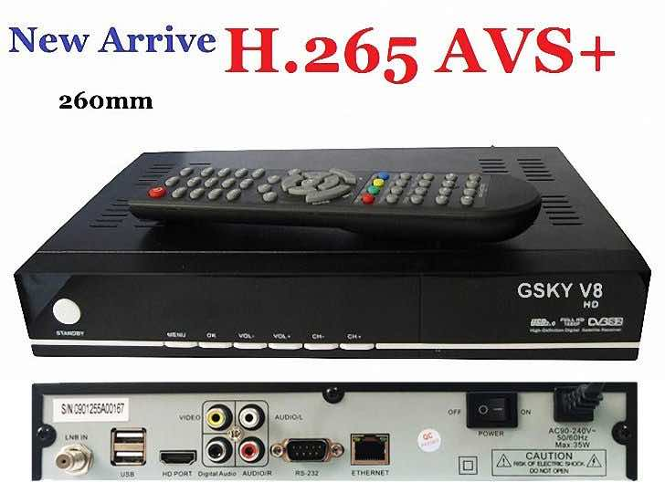 Review GSKY V8 HD(linux) DVB-S/S2 satellite receiver Features and Spec