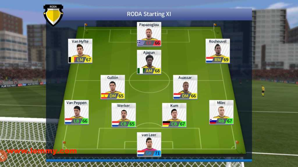 dream league soccer starting 11