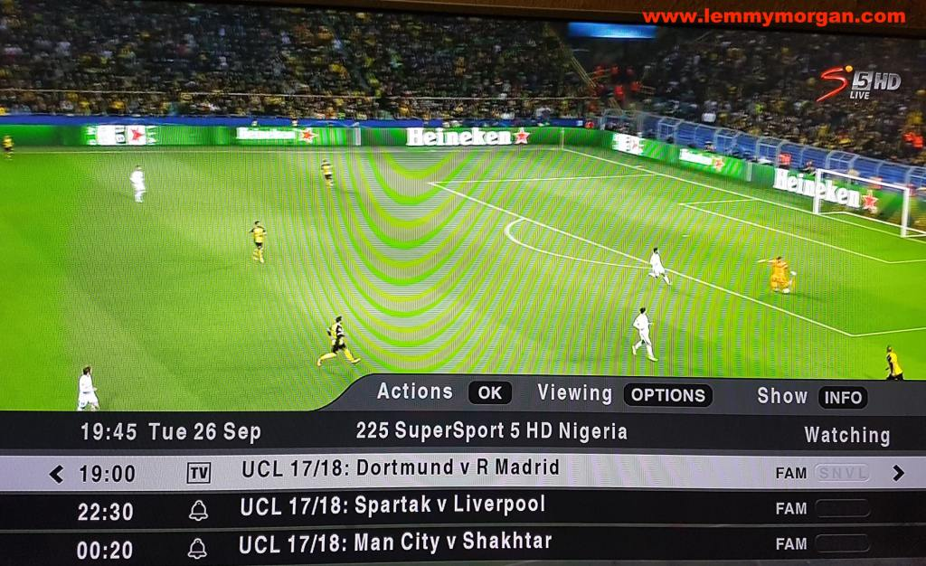 DStv compact UCL football