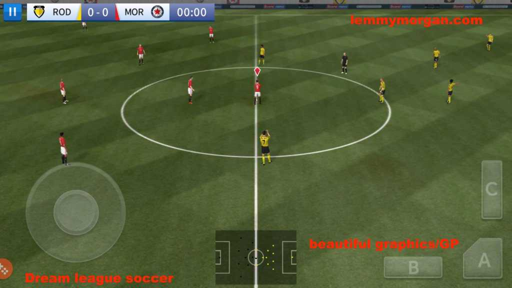 dream league soccer gameplay on android