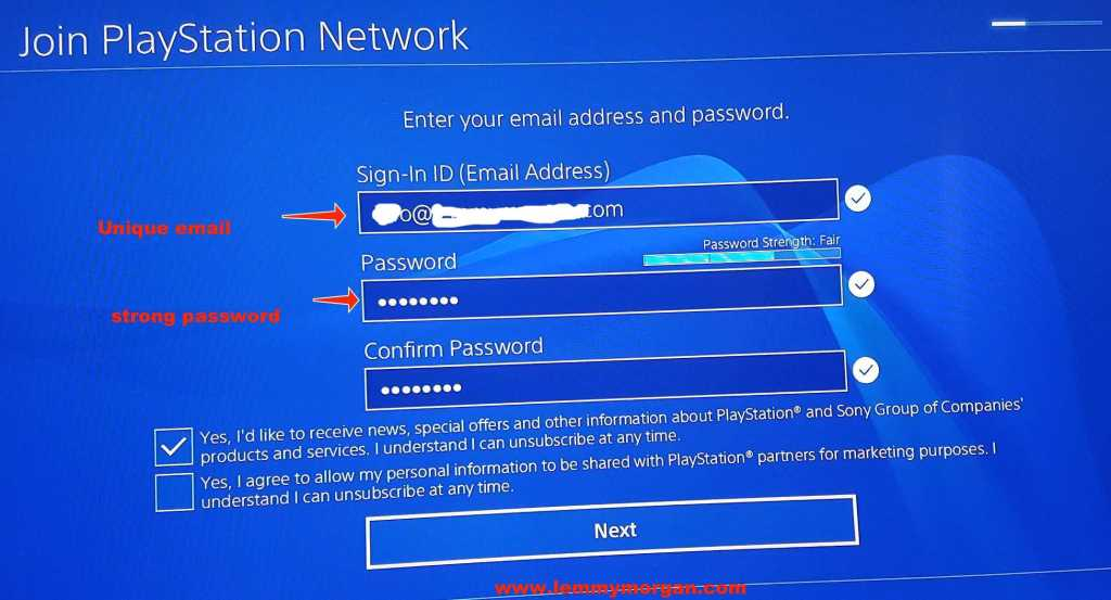 playstation network account abroad