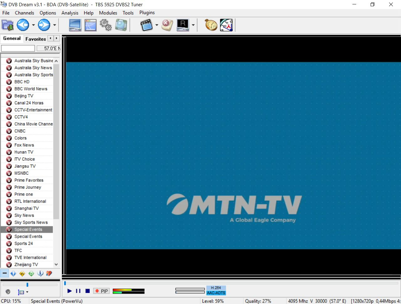 running satellite TV channels via DVB cards on your computer