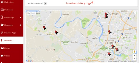 xnspy location tracking