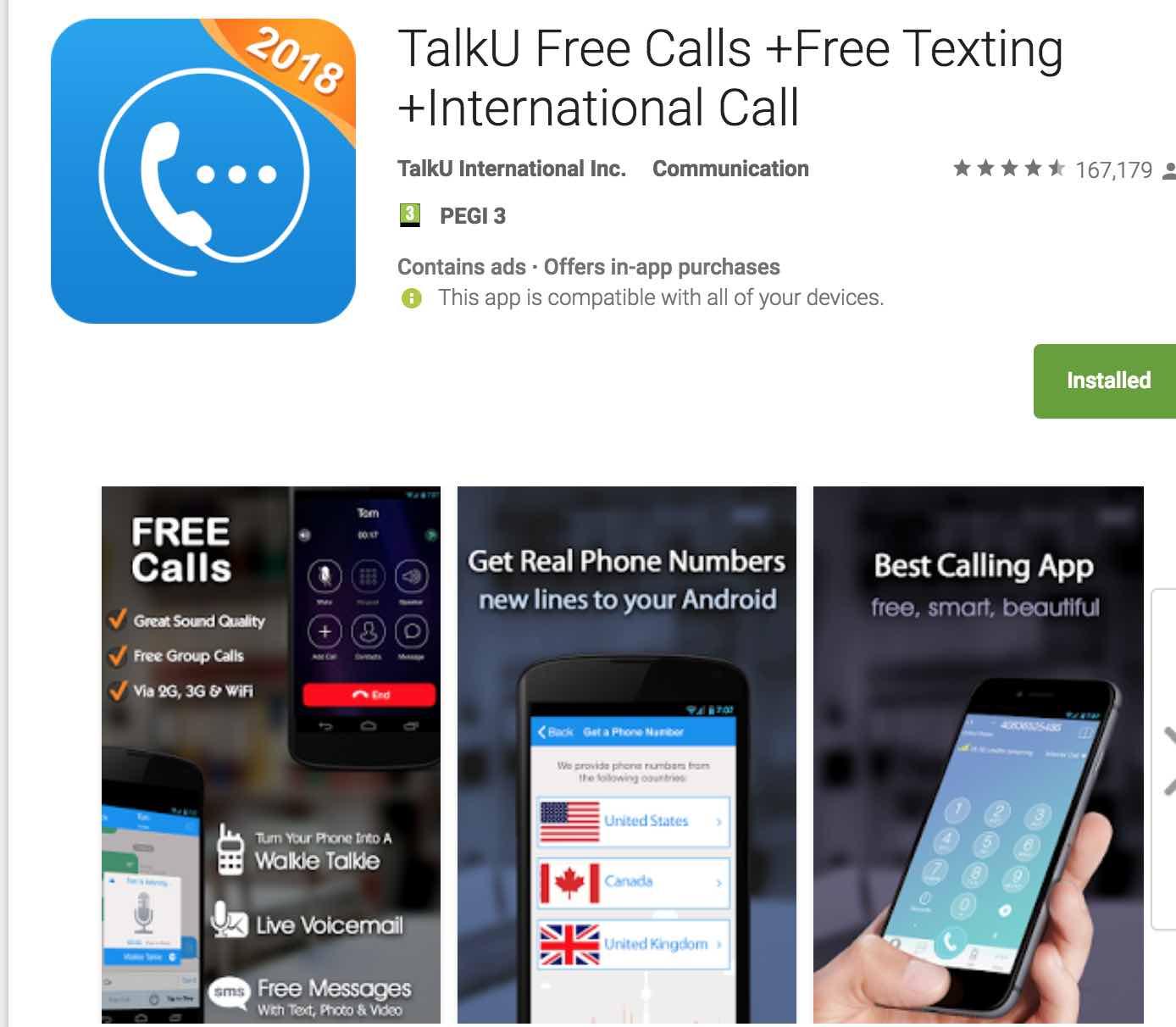 Talku Free Calls Free Texting International Call Android