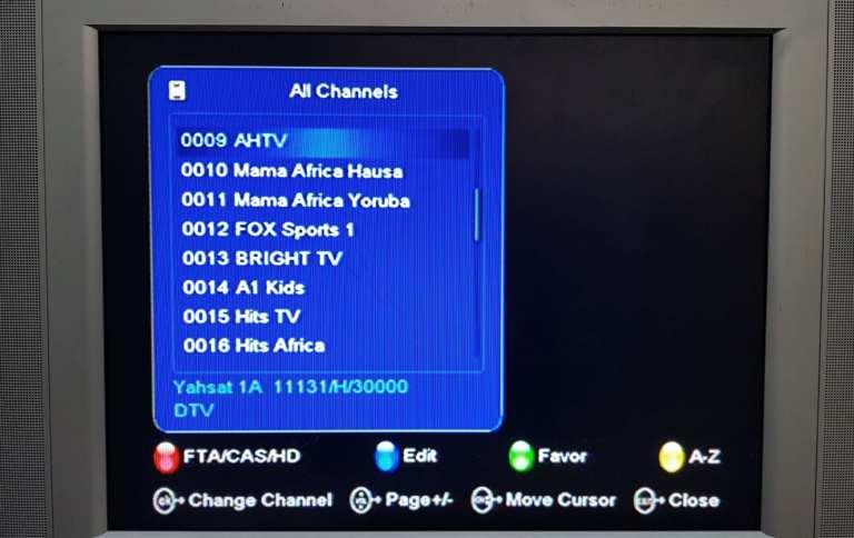 TStv channels on Yahsat 1A page 2(9-16)