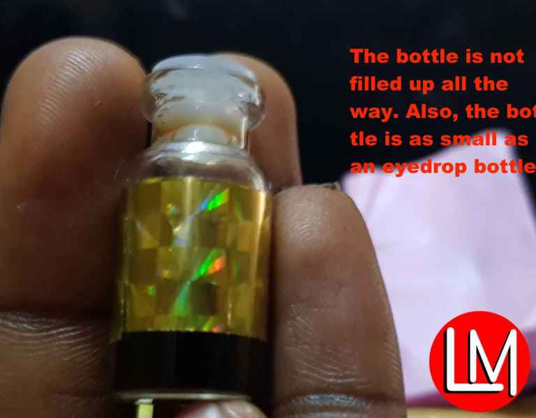 The size of samsu oil bottle