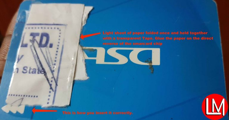 fix DStv faulty Smartcard errors