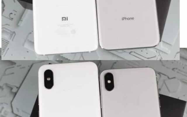 Xiaomi Millet 8 clones iPhone X