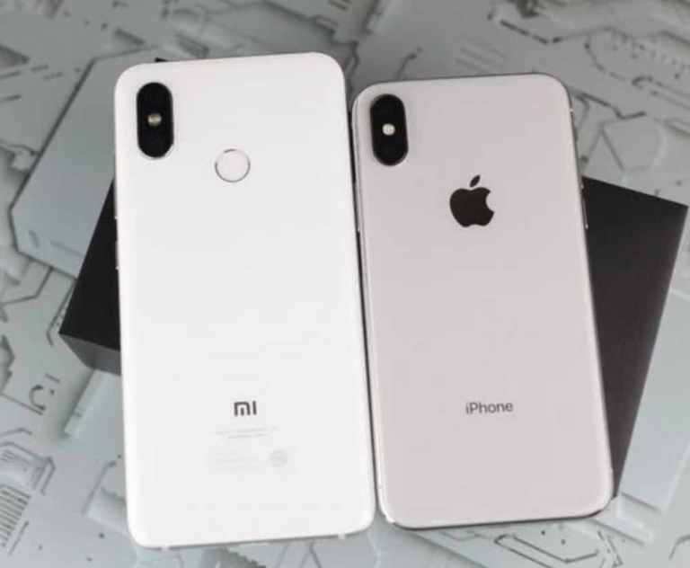 Xiaomi Millet 8 clones iPhone X_With logo on