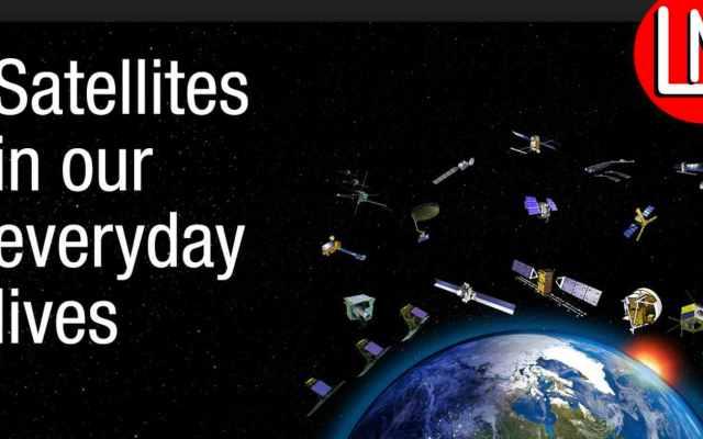 satellites journey in the orbit