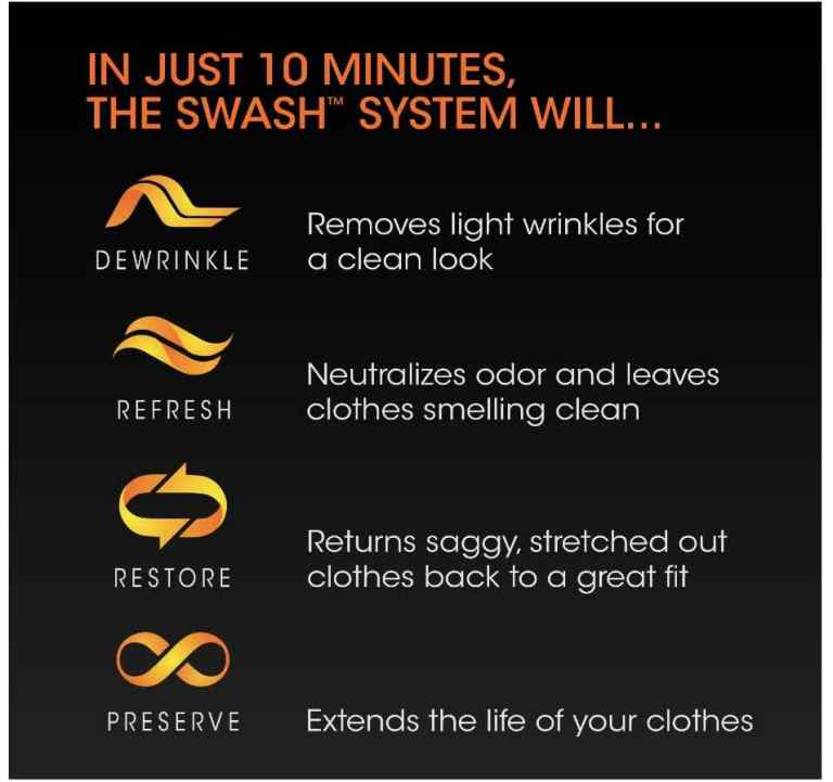 Swash SFF1000CSA Express Clothing Care System_full_features