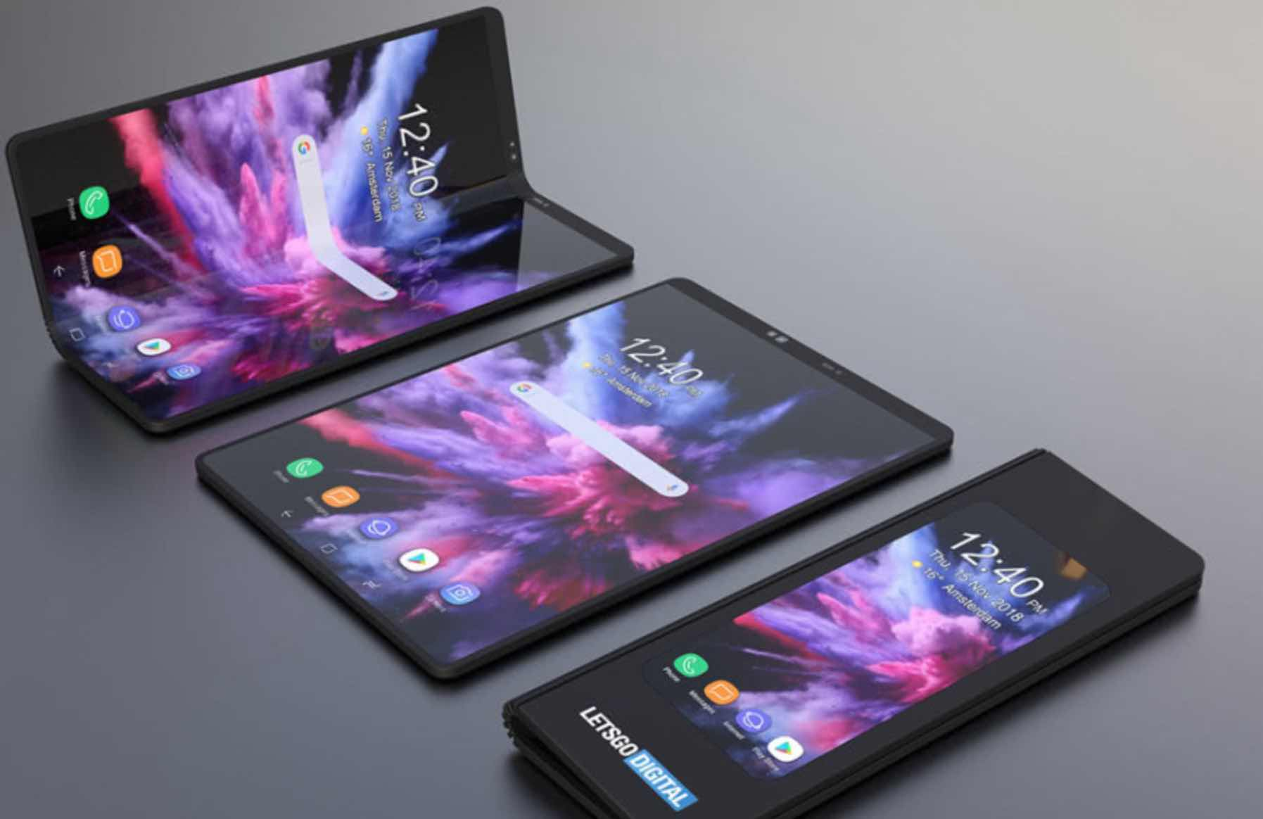 2019 six new Smartphone technology: aperture screen, 5G, flexible folding and more cameras